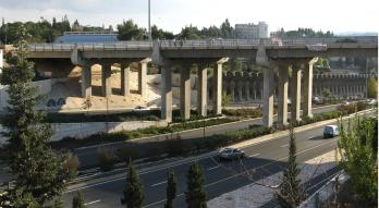 Jerusalem - Regional highway Begin (No. 4) - Ropin Bridge